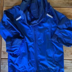 LLBean boys rain jacket